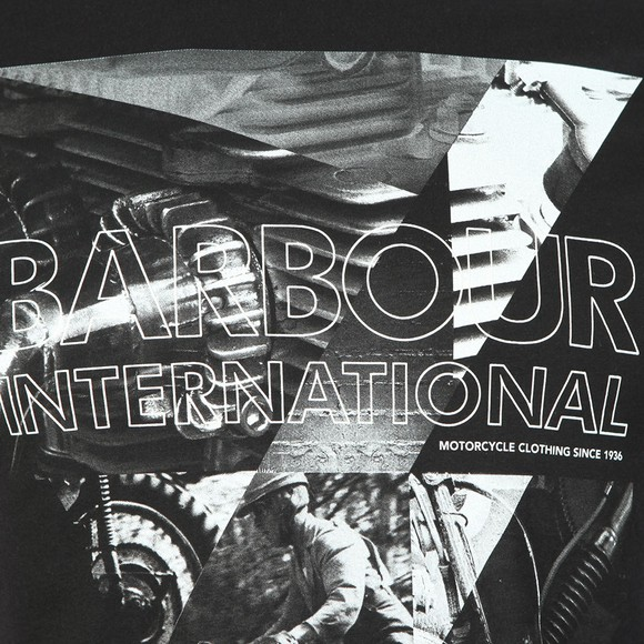 Barbour International Mens Black Frame Tee main image
