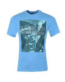Barbour International Mens Blue Frame Tee