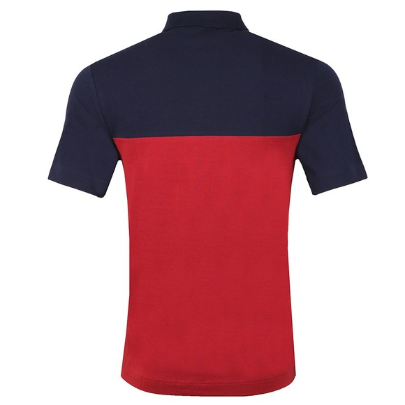 Fred Perry Mens Red Contrast Panel Polo main image