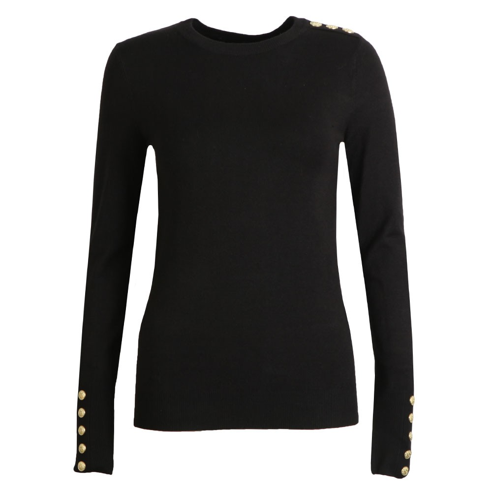 Buttoned Crew Neck Knit main image