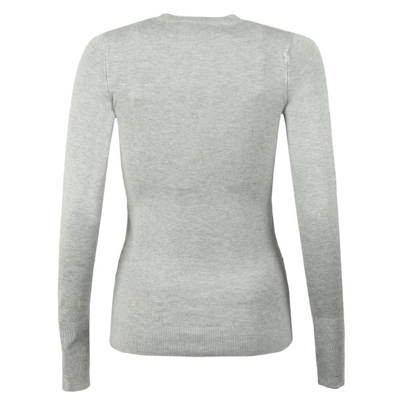 Holland Cooper Womens Grey Buttoned Crew Neck Knit main image