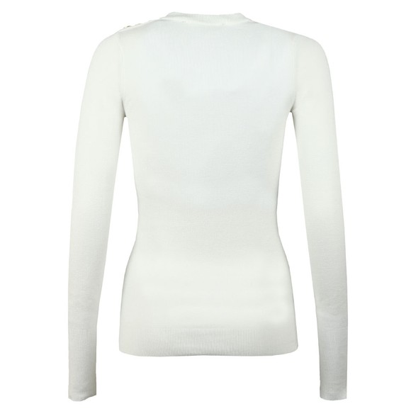 Holland Cooper Womens Off-White Buttoned Crew Neck Knit main image