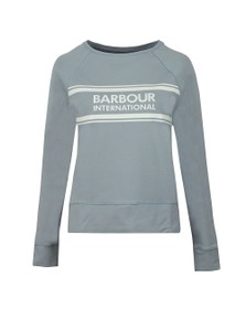 Barbour International Womens Blue Pitch Sweatshirt
