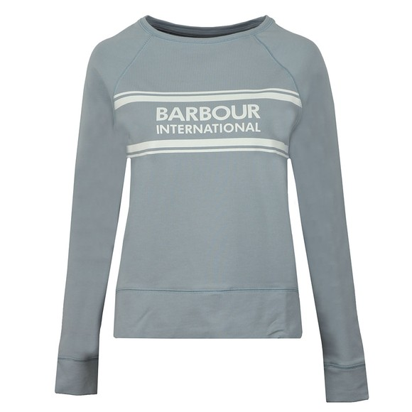 Barbour International Womens Blue Pitch Sweatshirt main image