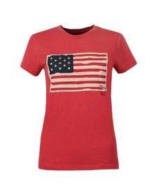 Polo Ralph Lauren Womens Red Flag T Shirt