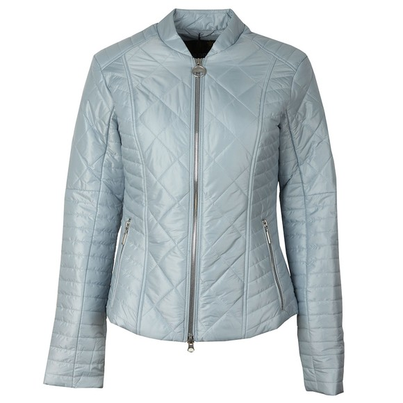 Barbour International Womens Blue Sprinter Quilt Jacket main image