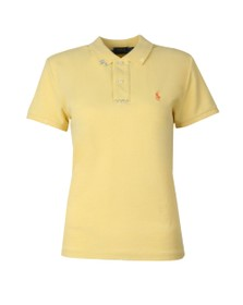 Polo Ralph Lauren Womens Yellow Stitch Detail Classic Fit Polo Shirt