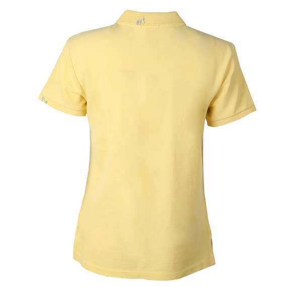 Polo Ralph Lauren Womens Yellow Stitch Detail Classic Fit Polo Shirt main image