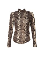 Animal Skin Printed Top