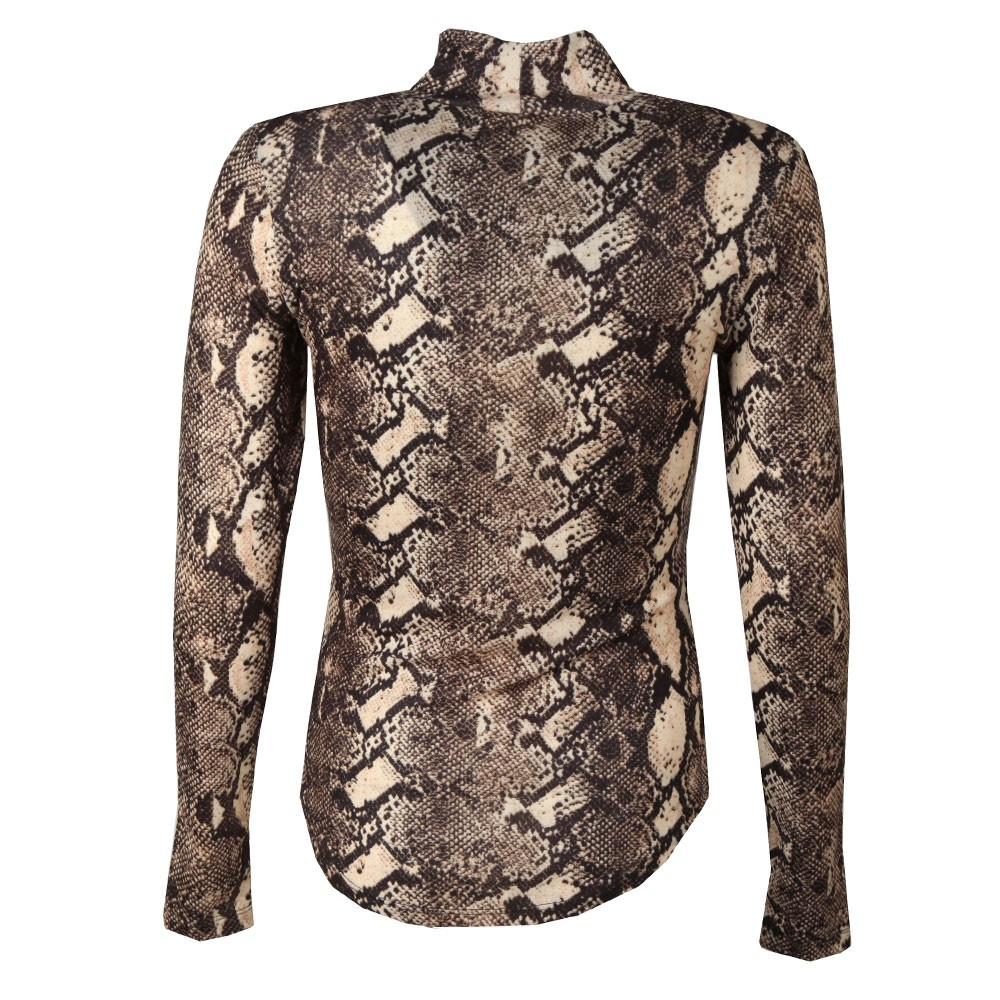 Animal Skin Printed Top main image