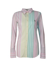 Polo Ralph Lauren Womens Multicoloured Heidi Stripe Long Sleeve Knit Shirt