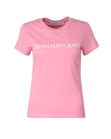 Calvin Klein Jeans Womens Pink Institutional Logo T Shirt