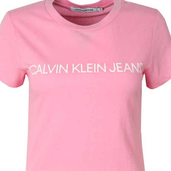 Calvin Klein Jeans Womens Pink Institutional Logo T Shirt main image