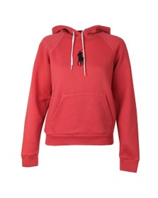 Polo Ralph Lauren Womens Red Shrunken Overhead Hoody