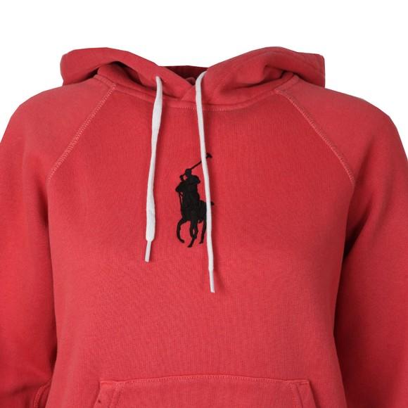Polo Ralph Lauren Womens Red Shrunken Overhead Hoody main image