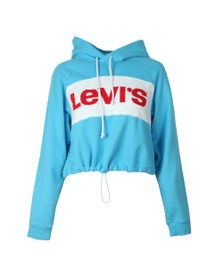 Levi's Womens Blue Colourblock Cinched Hoody