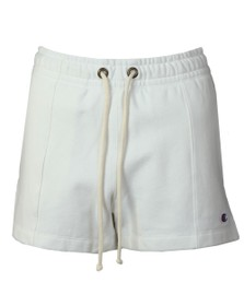 Champion Reverse Weave Womens White Small Logo Jersey Short