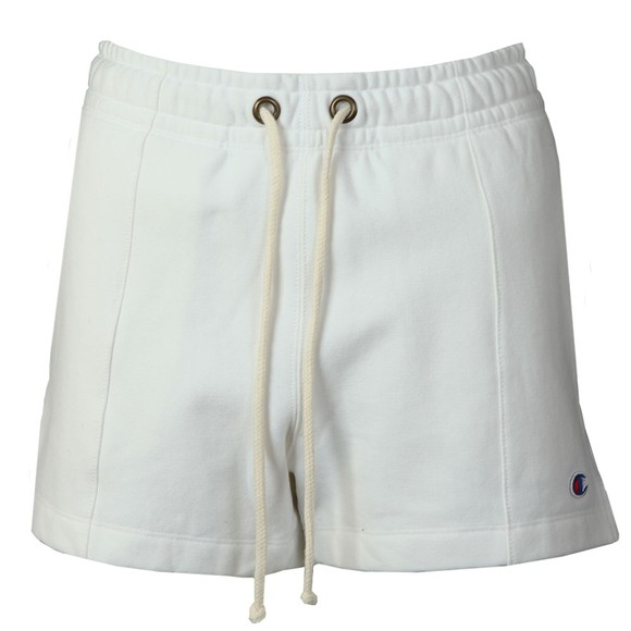 Champion Reverse Weave Womens White Small Logo Jersey Short main image