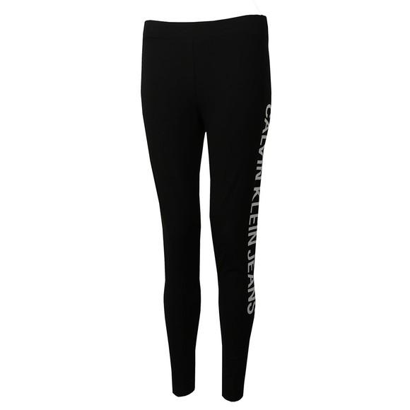Calvin Klein Jeans Womens Black Side Logo Leggings main image