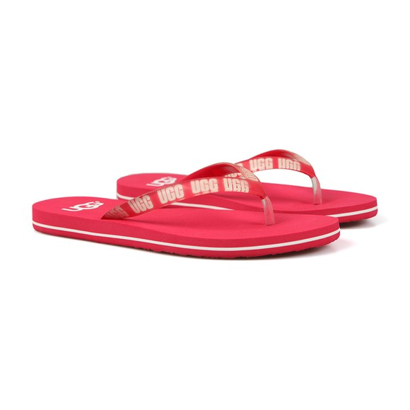 Ugg Womens Pink Simi Graphic Flip Flop