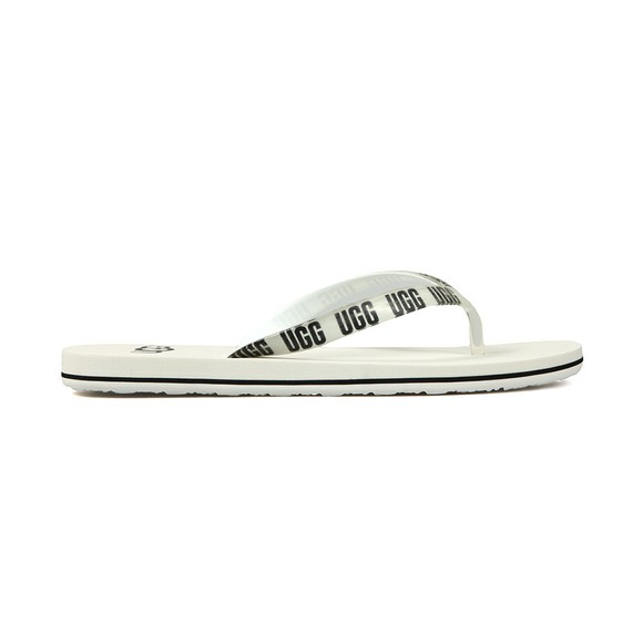 Ugg Womens White Simi Graphic Flip Flop main image