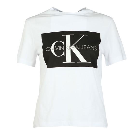 Calvin Klein Jeans Womens White Iconic Monogram Box T-Shirt main image
