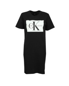Calvin Klein Jeans Womens Black Logo T-Shirt Dress