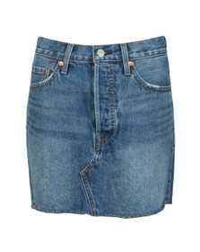 Levi's Womens Blue Deconstructed Skirt