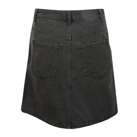 French Connection Womens Black Pepper Denim Zip Side Mini Skirt main image