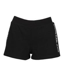 Calvin Klein Jeans Womens Black Track Logo Short