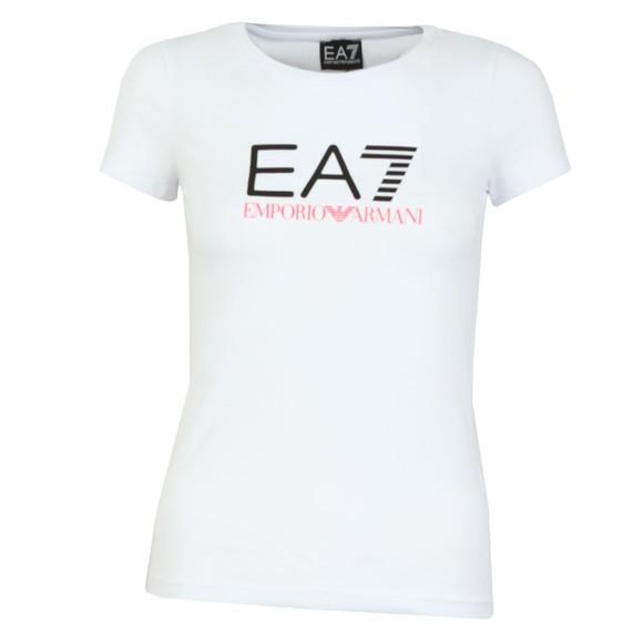 EA7 Emporio Armani Womens White Logo T Shirt main image