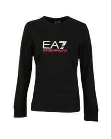 EA7 Emporio Armani Womens Black Logo Sweatshirt