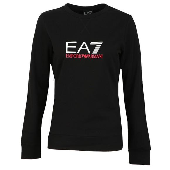 EA7 Emporio Armani Womens Black Logo Sweatshirt main image