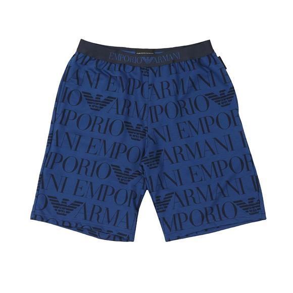 Emporio Armani Mens Blue Printed Logo Jersey Short main image