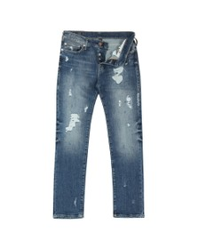 True Religion Mens Blue New Rocco Destroyed