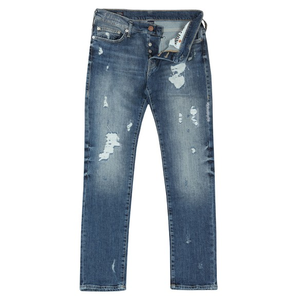 True Religion Mens Blue New Rocco Destroyed main image