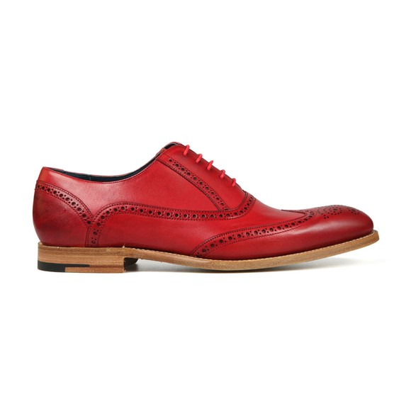 Barker Mens Red Valiant Hand Painted Shoe main image