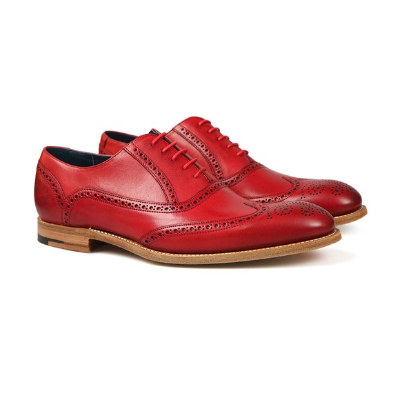 Barker Mens Red Valiant Hand Painted Shoe