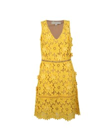 Michael Kors Womens Yellow Carnation Woven Dress