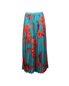 Ted Baker Womens Blue Arialee Fantasia Pleated Maxi Sarong