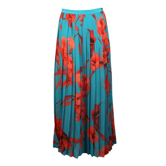 Ted Baker Womens Blue Arialee Fantasia Pleated Maxi Sarong main image
