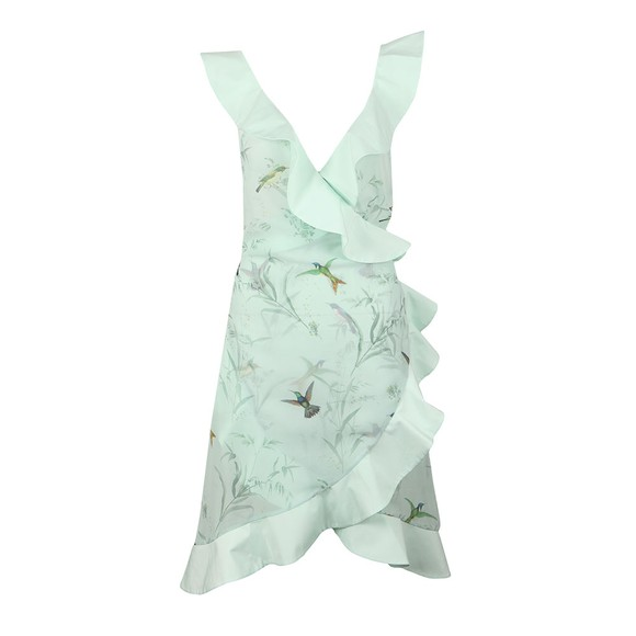 Ted Baker Womens Green Daislee Fortune Ruffle Wrap Cover Up main image
