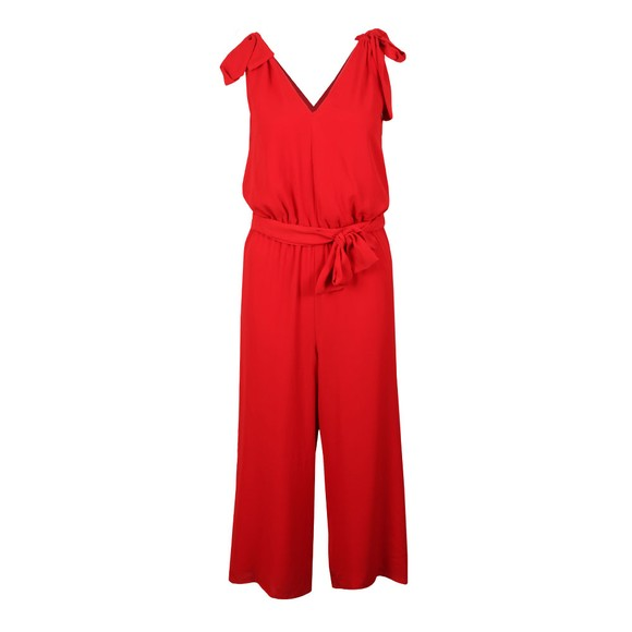 Michael Kors Womens Red Bow Shoulder Jumpsuit