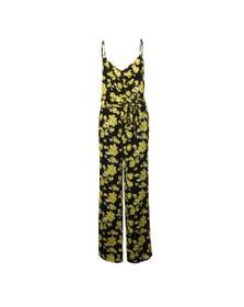 Michael Kors Womens Black Glam Fleur Jumpsuit