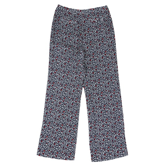 Michael Kors Womens Blue Heart Print Woven Pant