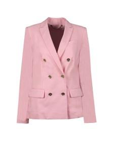 Michael Kors Womens Pink Carnation Woven Jacket