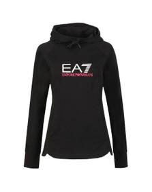 EA7 Emporio Armani Womens Black Logo Overhead Hoody