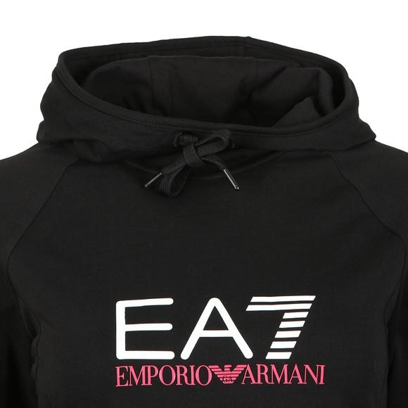 EA7 Emporio Armani Womens Black Logo Overhead Hoody main image