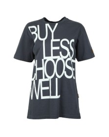 Vivienne Westwood Anglomania Womens Grey Buy Less Choose Well T Shirt