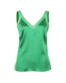 Ted Baker Womens Green Lilyane Mesh Trim V Neck Cami